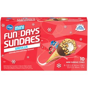 When you buy ONE (1) Kroger Vanilla Mini Sundae Cones (10 ct) - Kroger Coupon