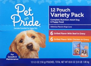 When you buy ONE (1) Pet Pride Wet Dog Food Variety Pack, any variety (12 ct) - Kroger Coupon