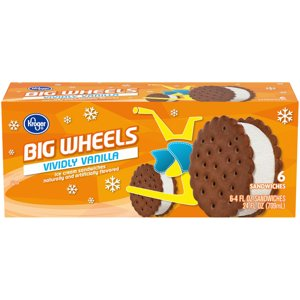 When you buy ONE (1) Kroger Big Wheels Ice Cream Sandwiches, any variety (6 ct) - Kroger Coupon