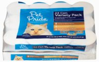 When you buy ONE (1) Pet Pride Wet Cat Food Variety Pack (24 ct) - Kroger Coupon